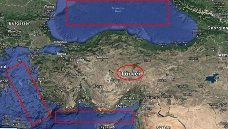 Türkei führt größtes Marine-Manöver ihrer Geschichte durch