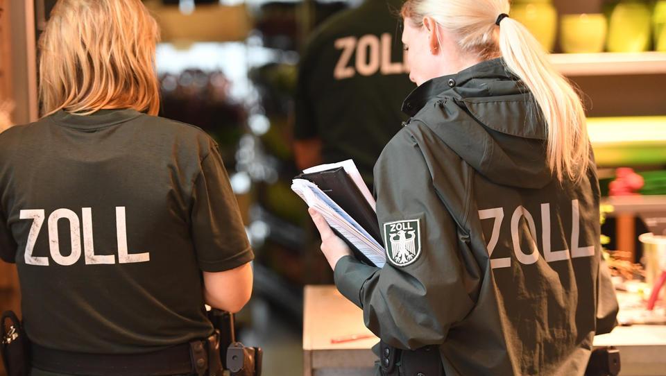 Zoll: Etwa 816 Millionen Euro hinterzogene Steuern und nicht gezahlte Sozialabgaben im Jahr 2020
