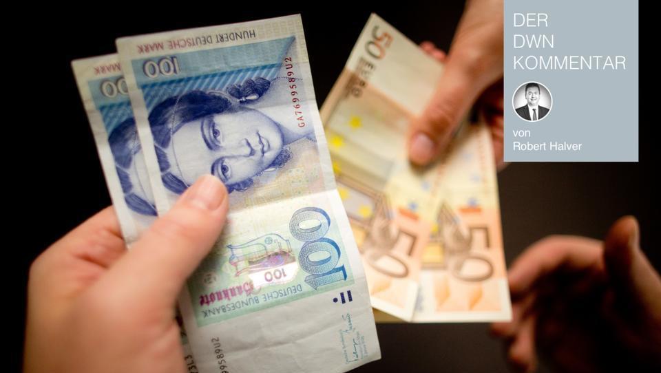 Über die Sehnsucht nach der guten alten Zeit vor dem Euro