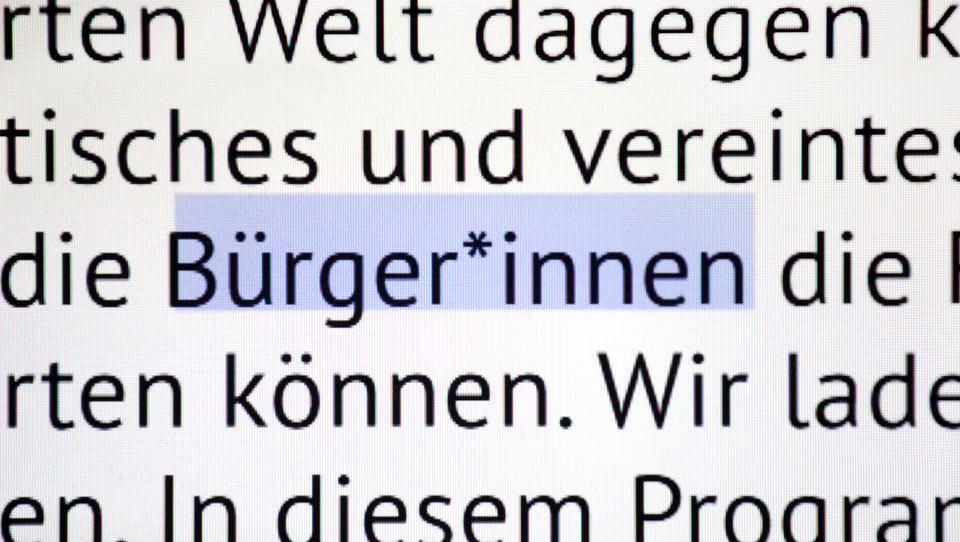 """Gesellschaft für deutsche Sprache: Das """"Gendersternchen"""" verhunzt Grammatik und Rechtschreibung"""