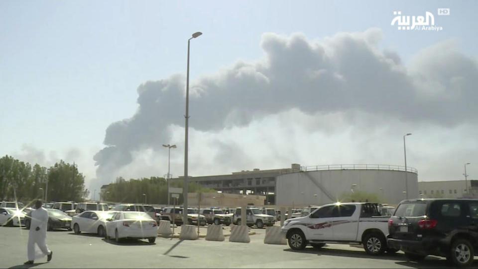 Angriff auf Zentrum der Ölindustrie ROUNDUP 3/Drohnenattacke in Saudi-Arabien