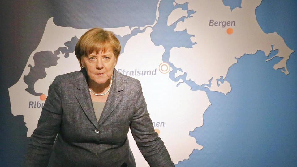 Machtvolle Symbolik: US-Sanktionsdrohung trifft direkt Merkels Wahlkreis