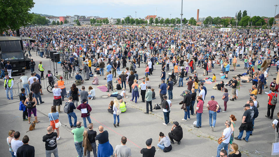 Demo am 16. Mai in Stuttgart: 500.000 Teilnehmer angemeldet