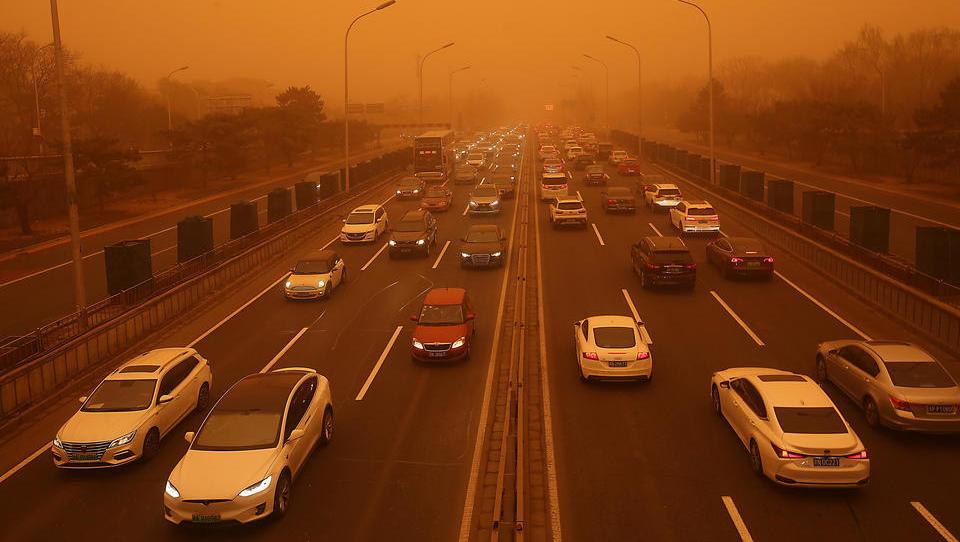 Größter Sandsturm seit einem Jahrzehnt fegt über China