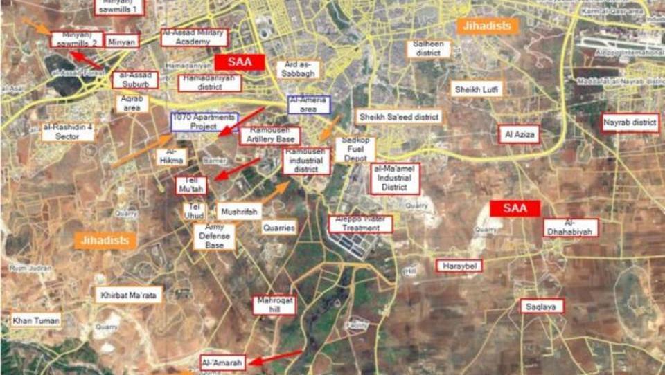 Russland bombardiert Söldner im Süden von Aleppo