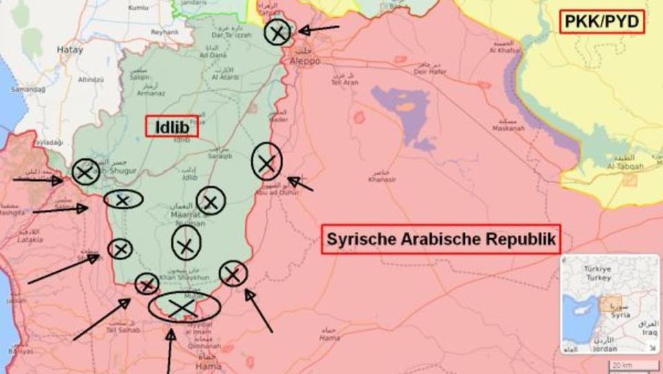 Syrien-Konflikt: Regierungstruppen starten Großoffensive in Idlib