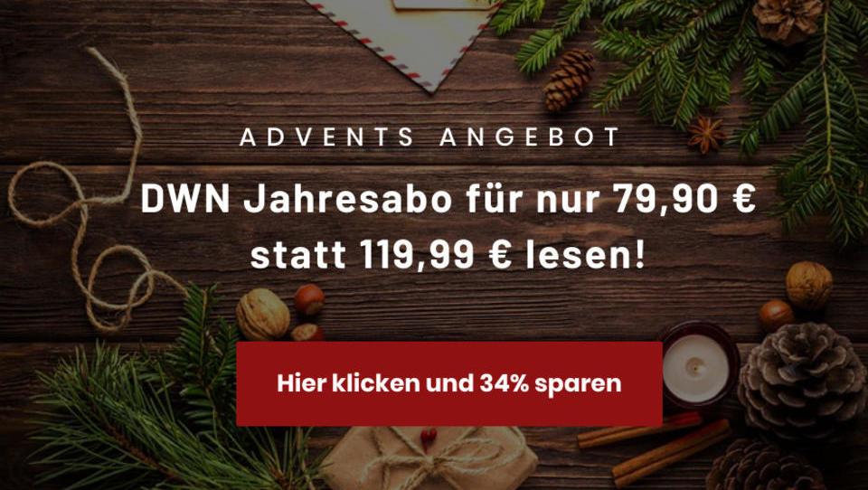 Unser Geschenk für Sie im Advent: Heute 34% sparen!