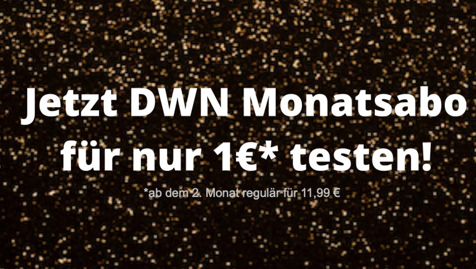 Für Neukunden: DWN Monatsabo zum Testen für nur 1€!*