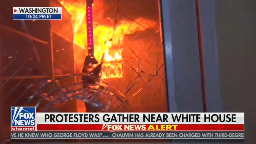 Antifa setzt historische Kirche in Washington in Brand