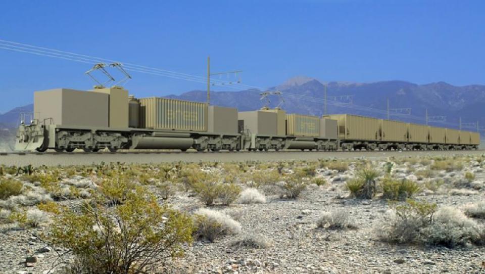Elektrische Züge können Windkraft speichern