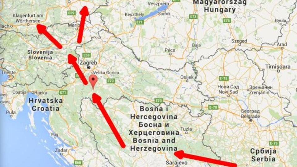 Tausende Flüchtlinge marschieren in Kroatien Richtung Norden
