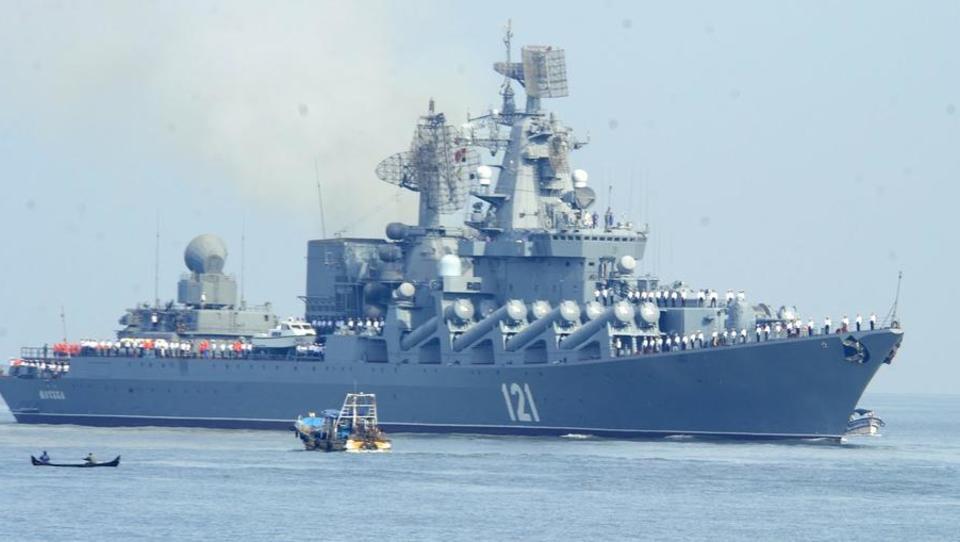 """Schießbefehl gegen die Nato: Russland schickt Zerstörer """"Moskva"""" nach Syrien"""