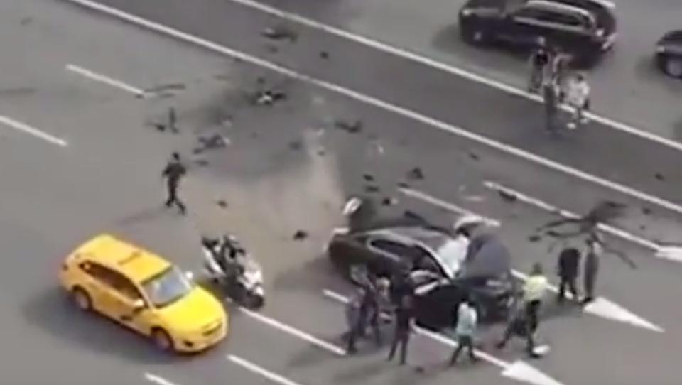 Schwerer Auto-Unfall von Putins offizieller Dienst-Limousine
