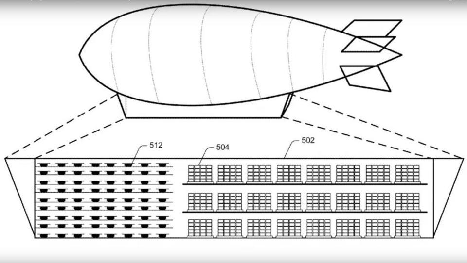 Amazon meldet Patent für fliegende Warenhäuser an