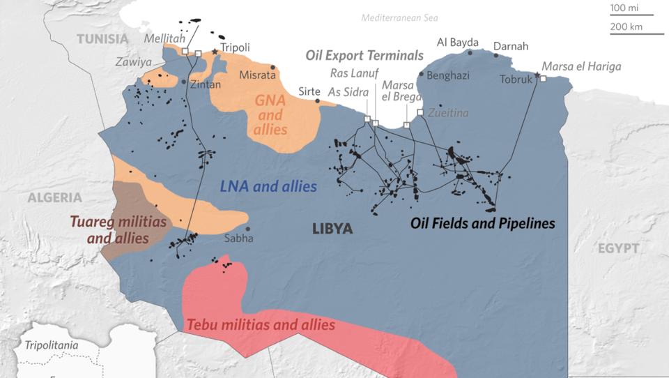 Libyen: Haftar lässt Ölproduktion blockieren, Öl wird teurer