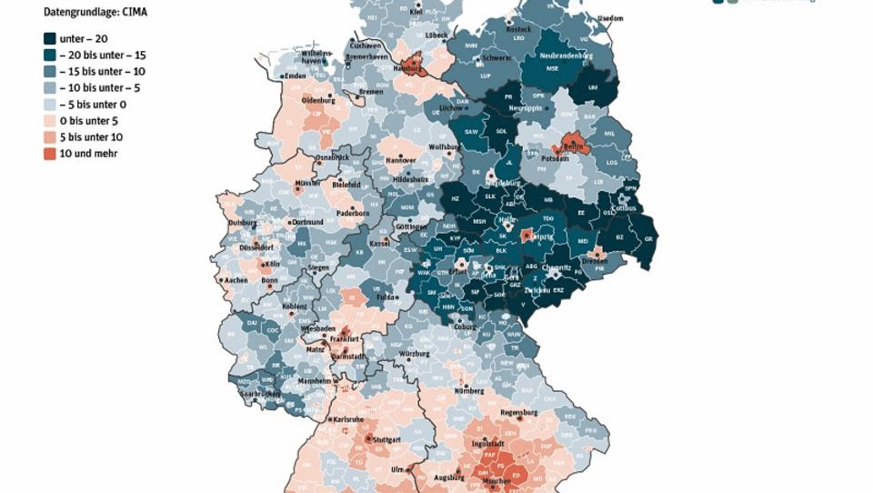 Demografie: Gräben zwischen Städten und ländlichen Regionen werden tiefer