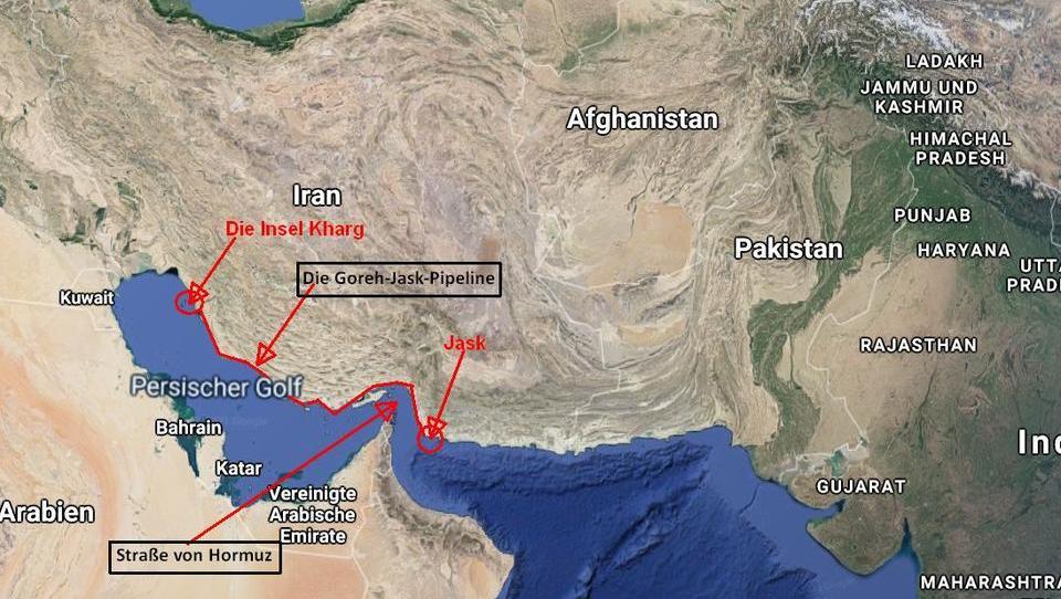 Iran umgeht mit neuer Öl-Pipeline die Straße von Hormuz
