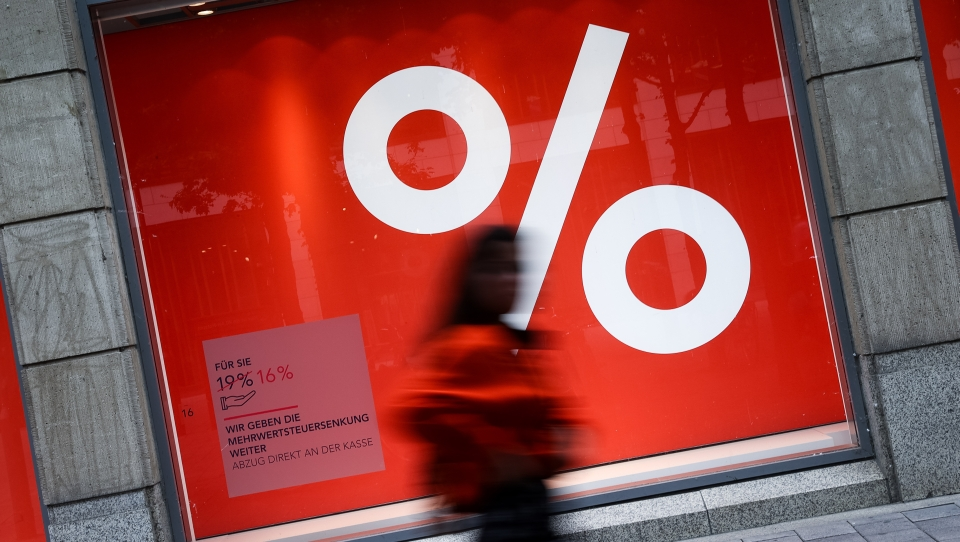 Mehrwertsteuersenkung drückt deutsche Inflationsrate ins Minus