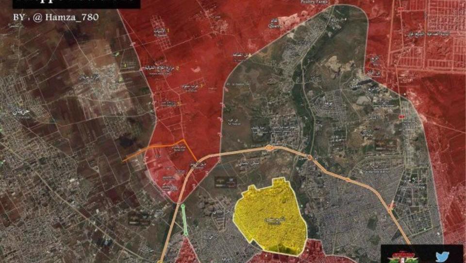 Syrien und Russland kreisen Söldner-Truppen in Aleppo ein