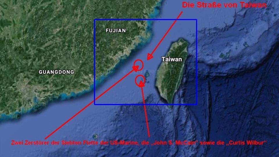 DWN AKTUELL: US-Zerstörer fahren durch die Straße von Taiwan, China droht mit