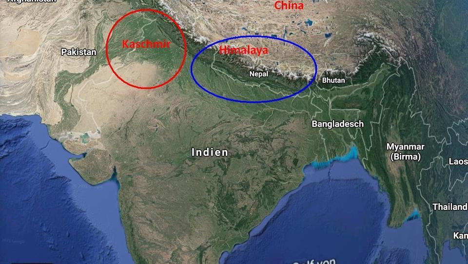 Indien: Von Gebirgen geschützt, auf dem Meer herausgefordert
