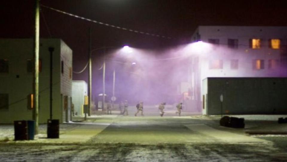 US-Armee hält nächtliche Übungen in Downtown Los Angeles ab