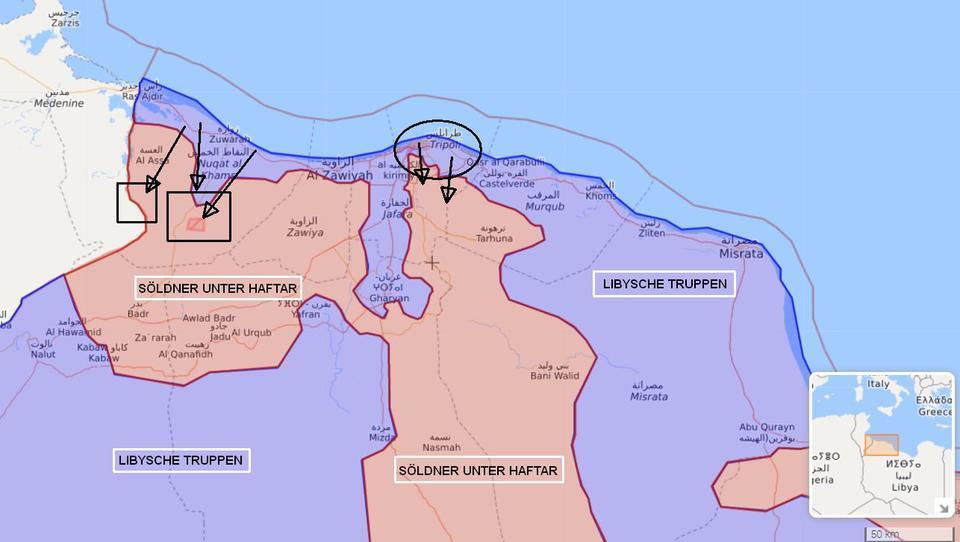 Libyen: Regierungstruppen starten Großoffensive gegen internationale Söldner