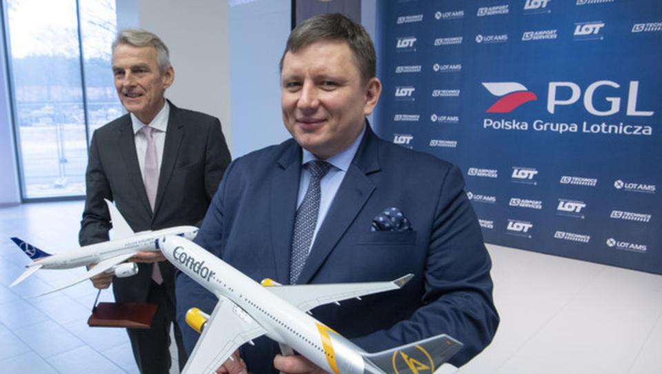 Polnische LOT rettet den bankrottreifen Ferienflieger Condor