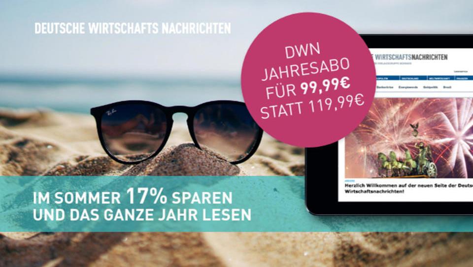 Lesen Sie hier, warum Sie die Deutschen Wirtschafts Nachrichten lesen sollten und wie Sie dabei 17% sparen!