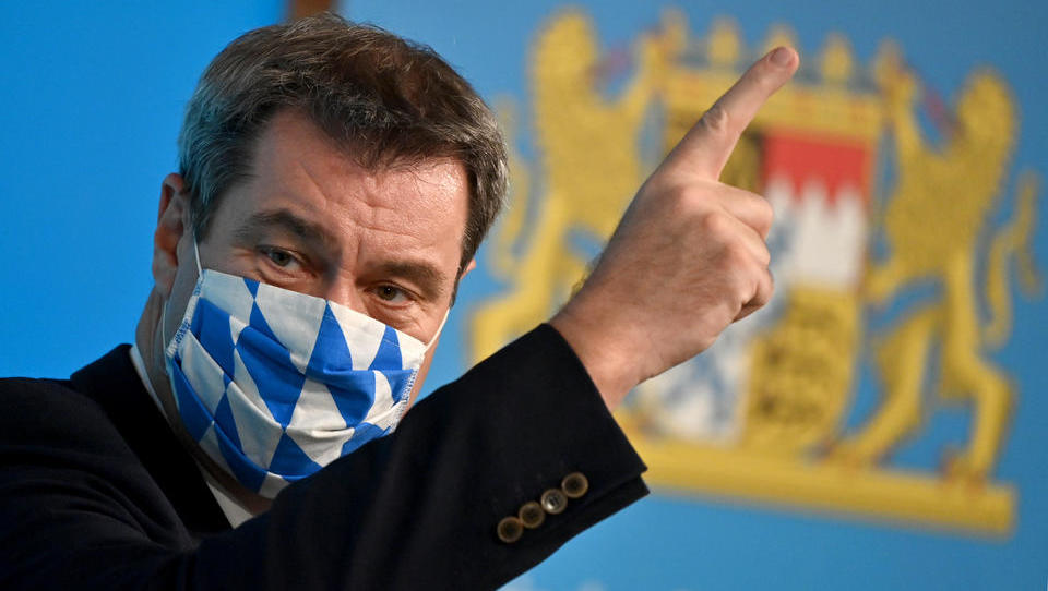 CORONA-TICKER: Söder: Bundesweite Corona-Regeln müssen strenger sein als in Bayern