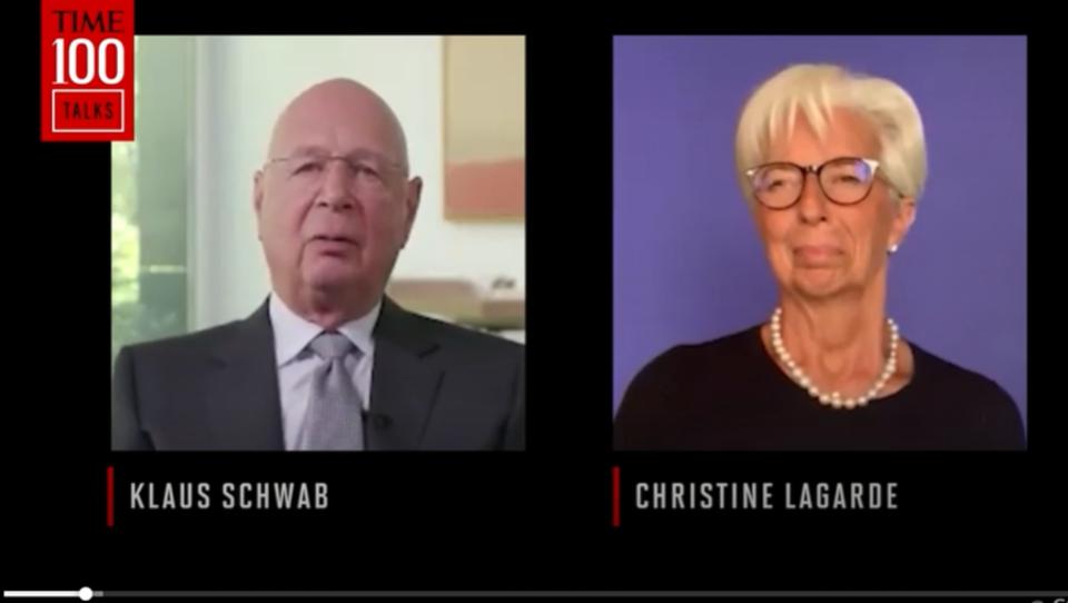 """Lagarde im Gespräch mit Schwab: """"Wenn wir nicht die ganze Welt impfen, wie wir es sollten, wird COVID-19 zurückkommen, um uns zu verfolgen"""""""