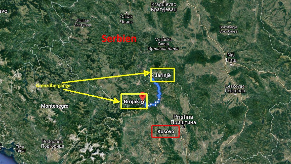 An der Grenze zwischen Serbien und dem Kosovo wird wieder gezündelt