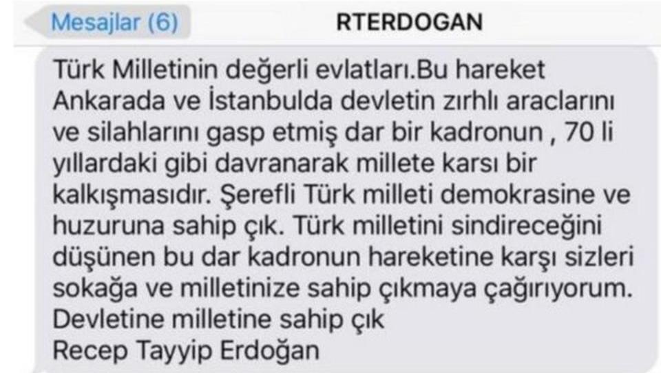 Erdogan verschickte Demo-Aufruf per SMS an alle Türken