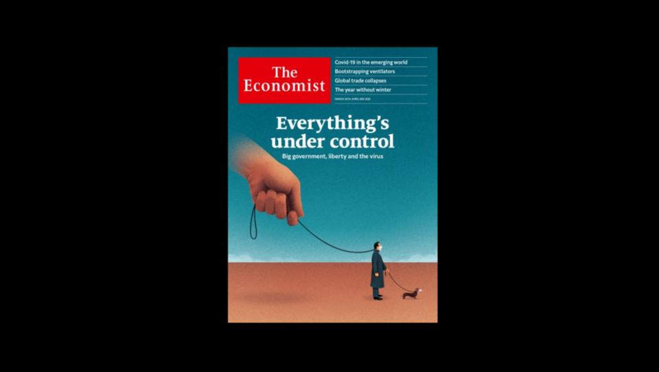 """März 2020: Cover der Zeitung """"The Economist"""" war vielsagend"""