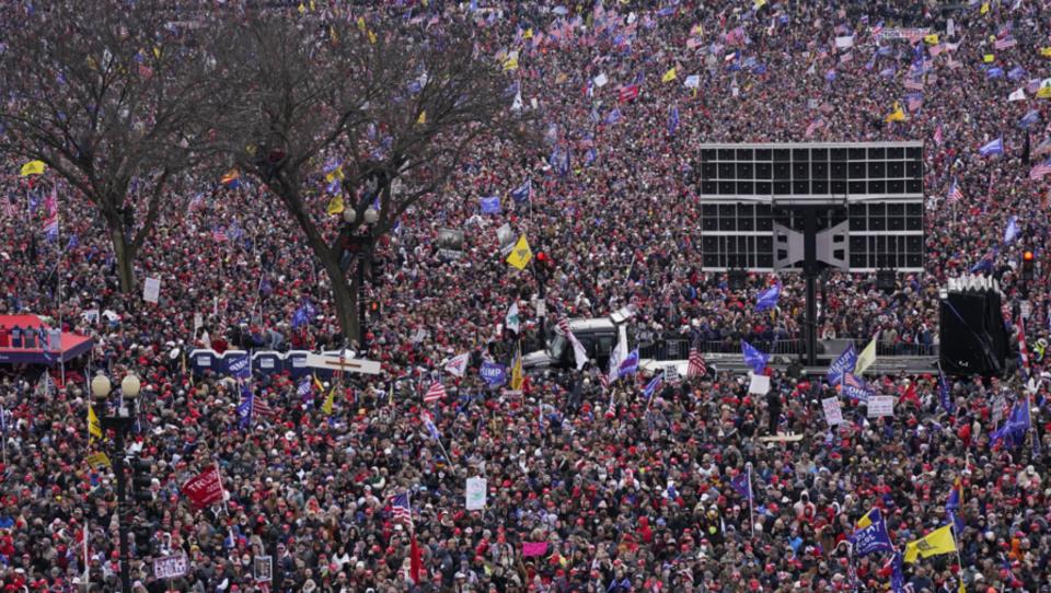 """Trump-Rede bei Massendemo: """"Wir wollen nicht, dass unser Wahlsieg von radikalen linken Demokraten gestohlen wird"""""""