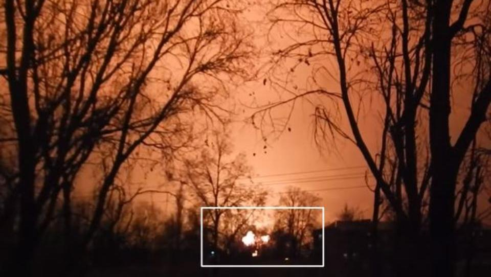 Riesige Explosion erschüttert ukrainische Stadt