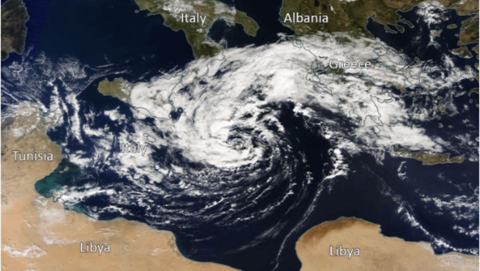 Tropischer Sturm bildete sich erstmals über Mittelmeer