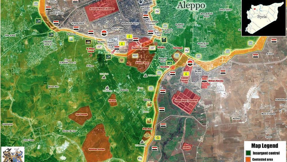 Syrien und Russland schlagen ISIS-Offensive in Aleppo zurück