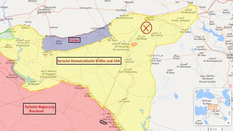 Gefechte zwischen syrischer Armee und US-Truppen