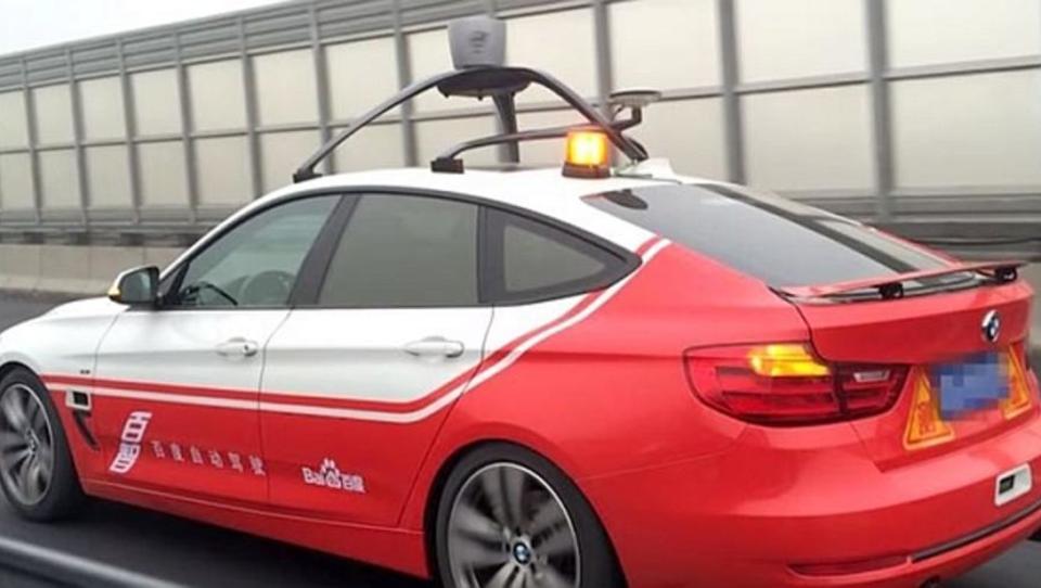 BMW und Baidu testen fahrerloses Auto auf Pekings Straßen