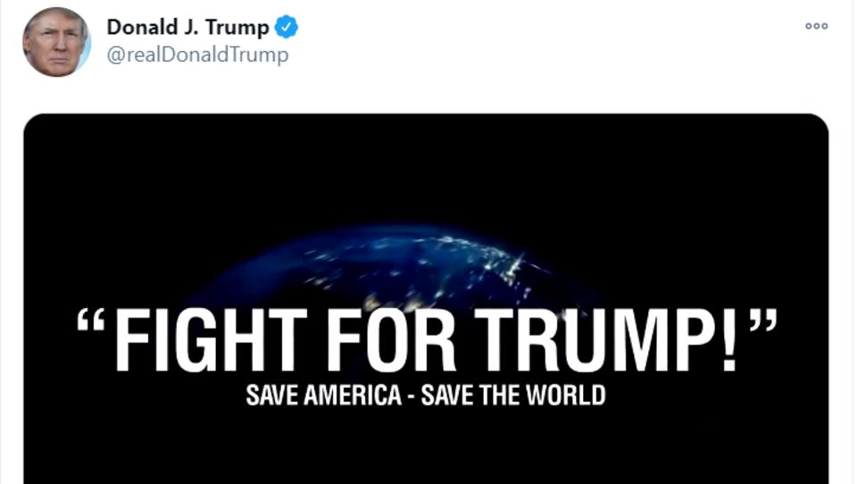 """""""Fight for Trump"""": US-Präsident ruft Völker mit heroischem Video zum Widerstand auf"""