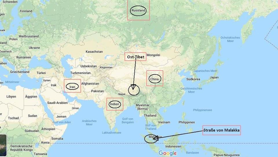In der Mitte umzingelt: Wie Chinas Geografie seinen Aufstieg zur Weltmacht erschwert