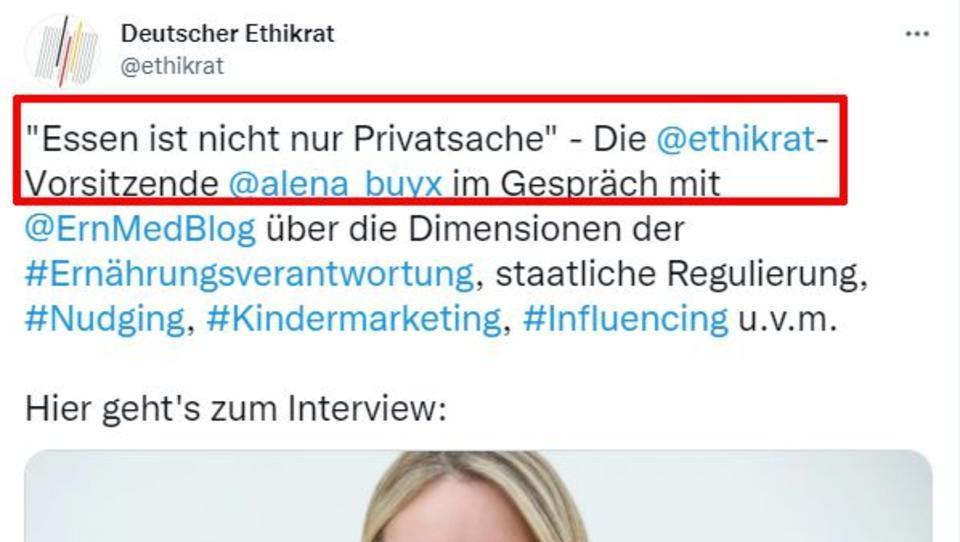 """Deutscher Ethikrat: """"Essen ist nicht nur Privatsache"""""""