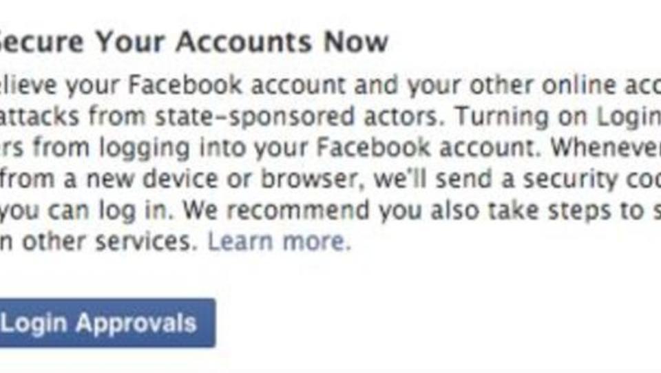Facebook warnt Nutzer vor staatlichen Hacker-Angriffen