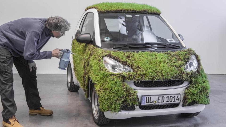 Rasen statt Lack: Daimler testet Autos mit Pflanzen-Haut