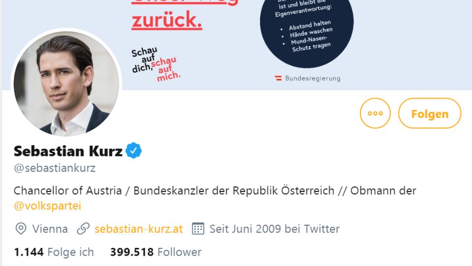Enthüllung: Ösi-Kanzler Kurz hat fast 200.000 Fake-Follower auf Twitter