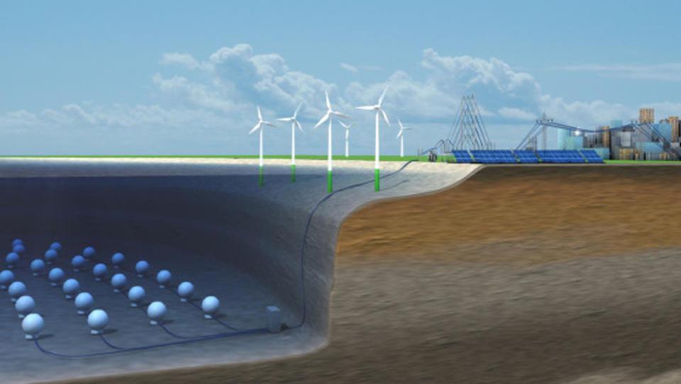 Kugeln auf dem Meeresgrund könnten Wind-Energie speichern