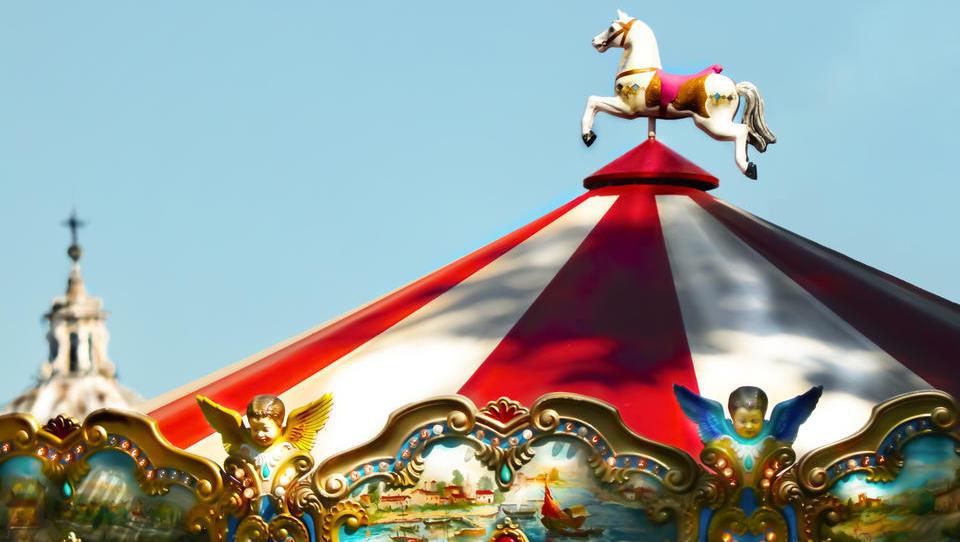 Die Börse wurde in einen Zirkus verwandelt