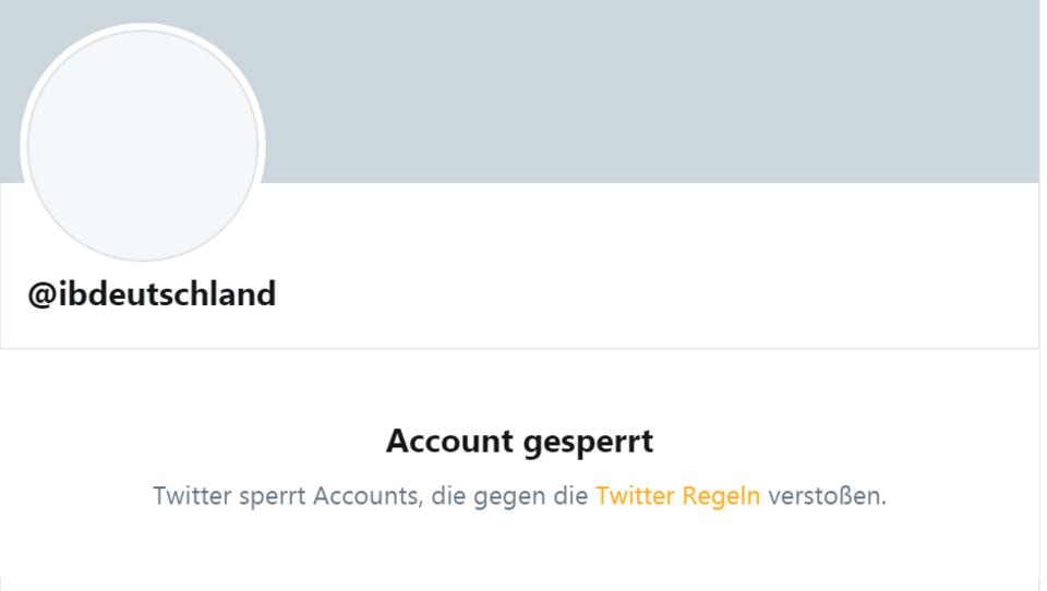 Twitter sperrt Konten der Identitären Bewegung