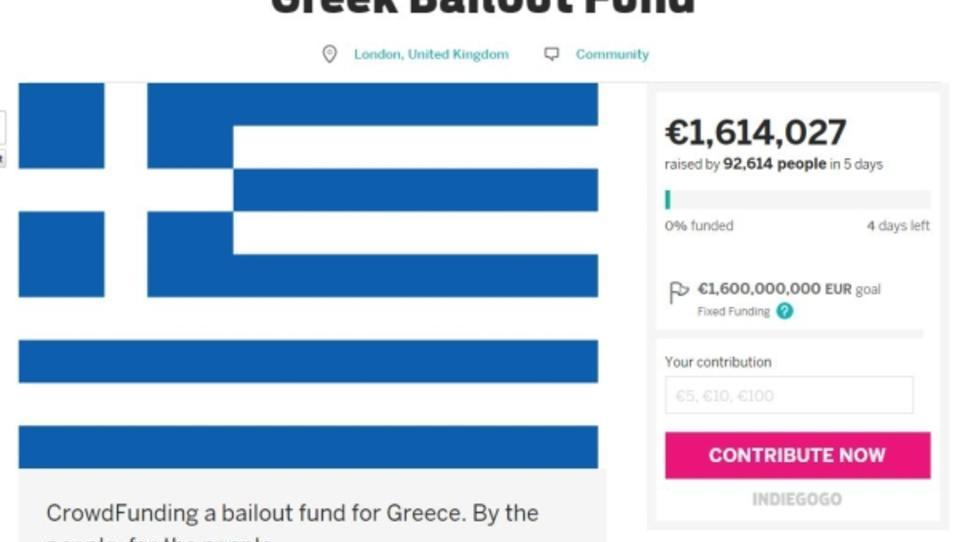 Crowdfunding: Brite sammelt Geld für Griechenland-Rettung